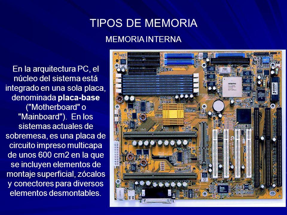 TIPOS DE MEMORIA MEMORIA CACHE – Tipos De Cache Desde el punto de vista del hardware, existen dos tipos de memoria cache; 1.- CACHÉ INTERNA en realidad son dos, cada una con una misión específica: Una para datos y otra para instrucciones.