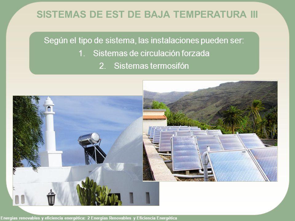 Energías renovables y eficiencia energética: 2 Energías Renovables y Eficiencia Energética SISTEMAS DE EST DE BAJA TEMPERATURA III Según el tipo de si
