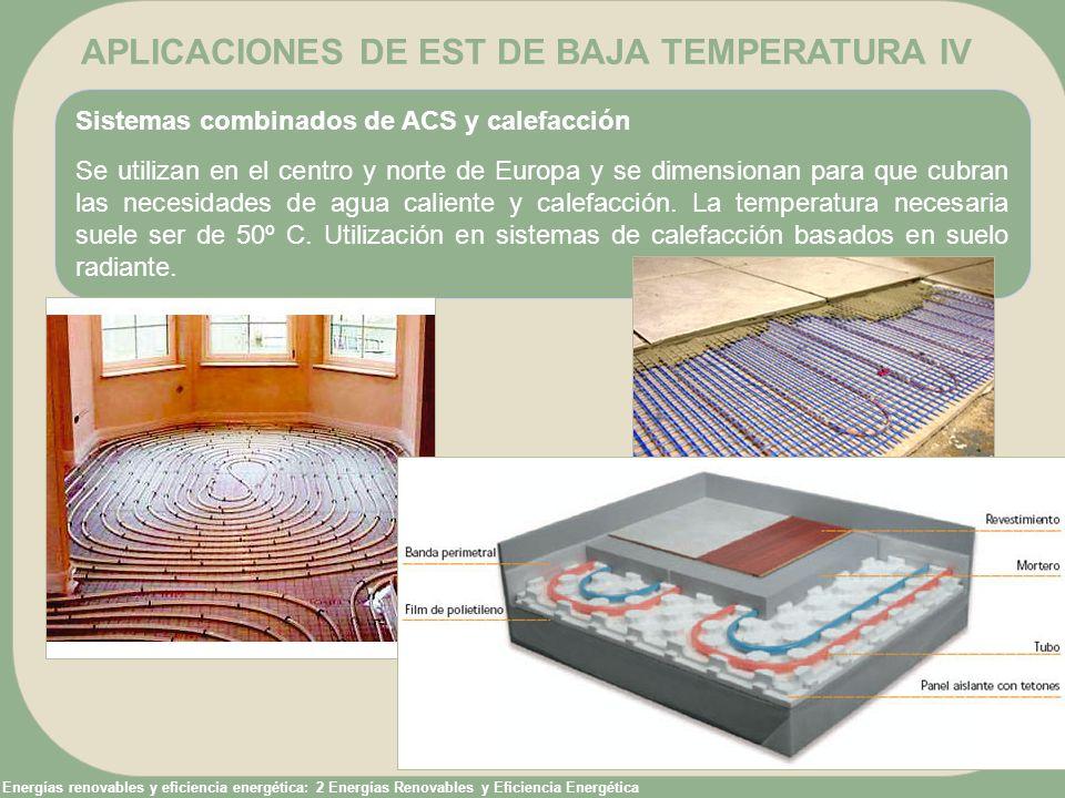Energías renovables y eficiencia energética: 2 Energías Renovables y Eficiencia Energética APLICACIONES DE EST DE BAJA TEMPERATURA IV Sistemas combina