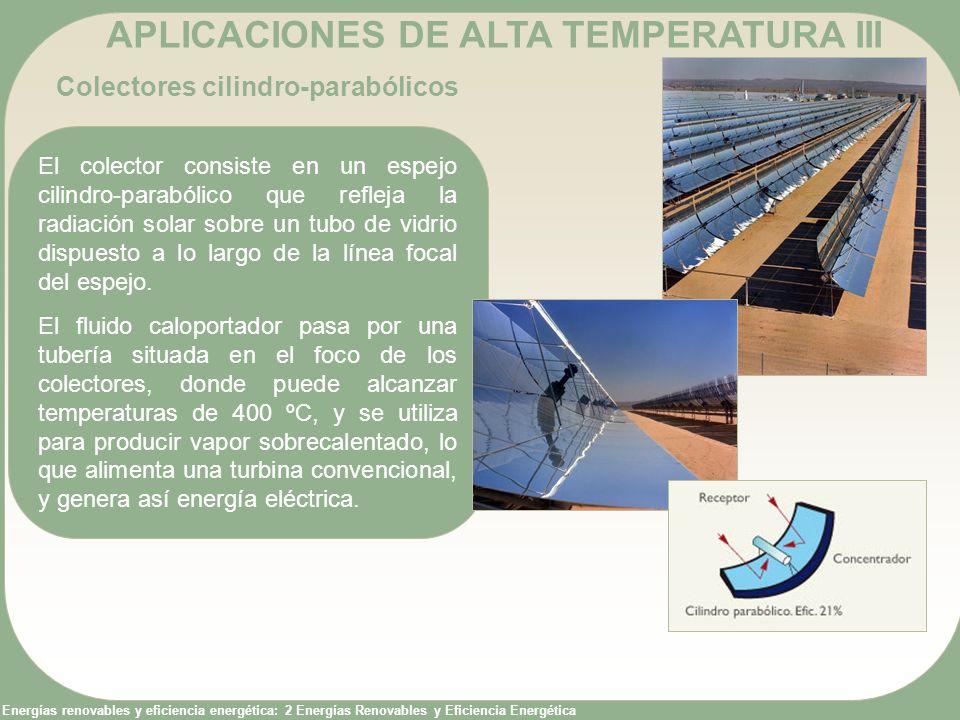 Energías renovables y eficiencia energética: 2 Energías Renovables y Eficiencia Energética APLICACIONES DE ALTA TEMPERATURA III Colectores cilindro-pa