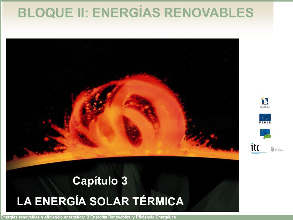 Energías renovables y eficiencia energética: 2 Energías Renovables y Eficiencia Energética BLOQUE II: ENERGÍAS RENOVABLES Capítulo 3 LA ENERGÍA SOLAR