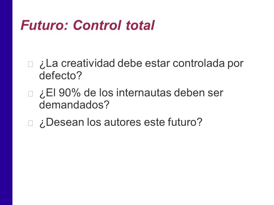 Futuro: Control total ¿La creatividad debe estar controlada por defecto.