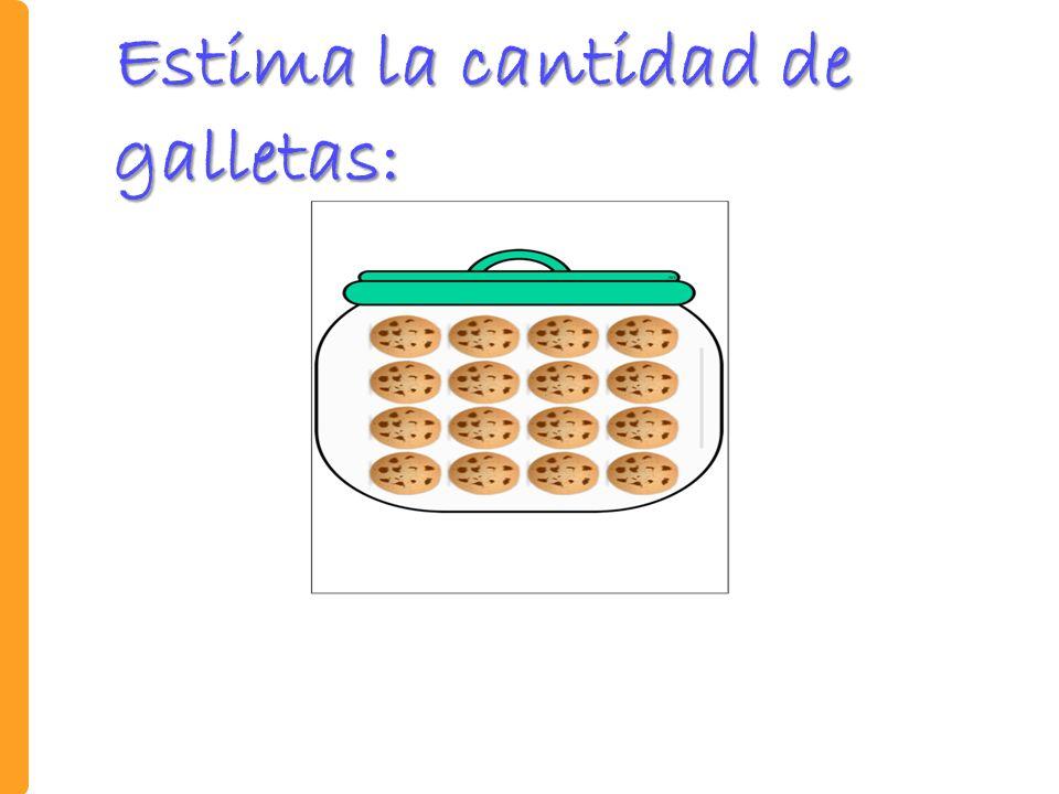 Estima la cantidad de galletas: