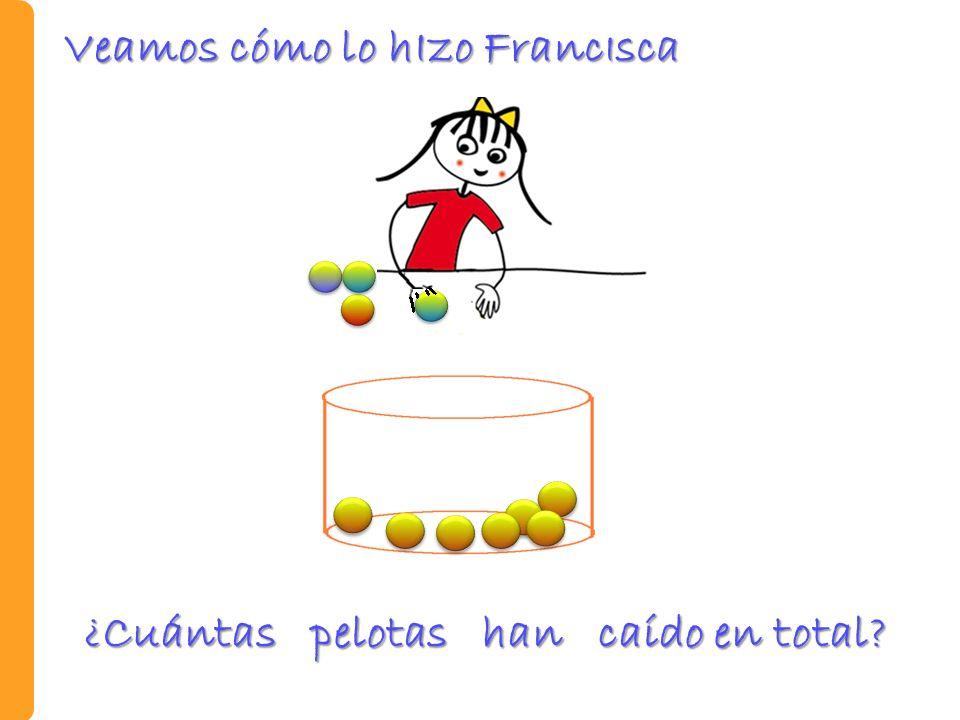 Prueba oral y escrita Observe las bolitas que hay en la bolsa de la izquierda y estime la cantidad de bolitas que hay en la bolsa de la derecha.