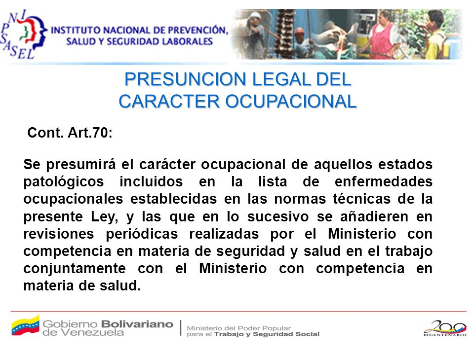 LISTADO DE ENFERMEDADES OCUPACIONALES CODIFICACION 2007 LISTADO DE ENFERMEDADES OCUPACIONALES CODIFICACION 2007 (Clasificación estadística internacional de enfermedad y problemas relacionados con la salud, décima revisión CIE-10 DE OPS) CODIGOCIE- 10 DIAGNOSTICO 010-TRASTORNOS MUSCULOESQUELETICOS 010-01M54.5 LUMBAGO NO ESPECIFICADO 010-02M50 TRASTORNO DEL DISCO INTERVERTEBRAL 010-03G56.0 SIND.