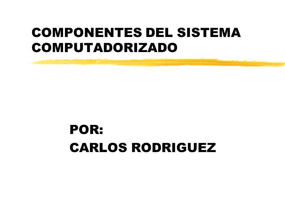 COMPONENTES DEL SISTEMA COMPUTADORIZADO POR: CARLOS RODRIGUEZ