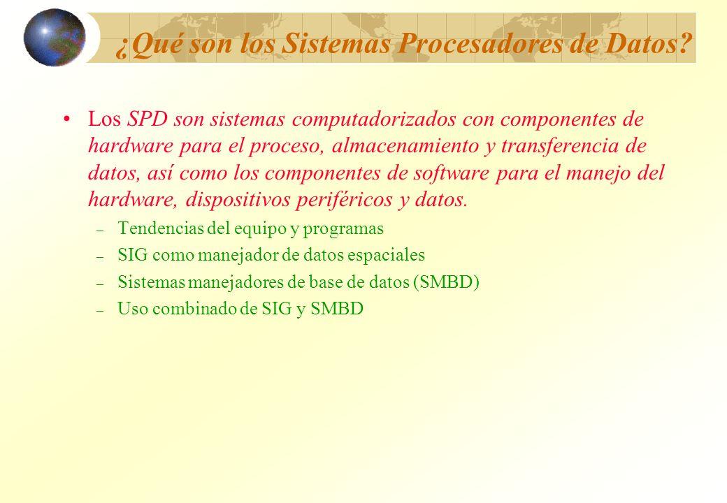 ¿Qué son los Sistemas Procesadores de Datos? Los SPD son sistemas computadorizados con componentes de hardware para el proceso, almacenamiento y trans