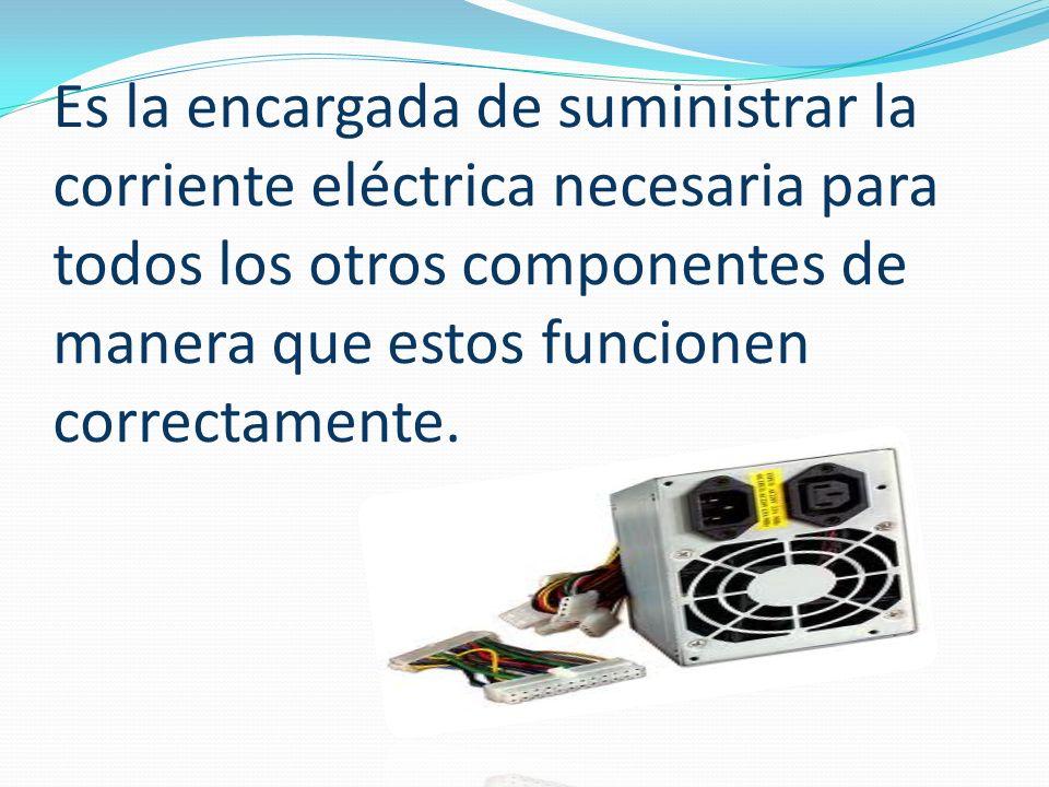 La función básica de la fuente de poder consiste en convertir el tipo de energía disponible en la toma de corriente de pared a aquellos que sea utilizable por los circuitos de la computadora.