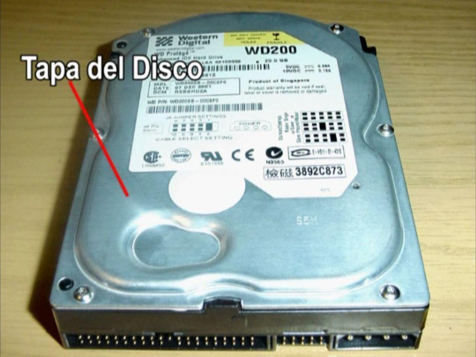 2._ COMPONENTES DEL DISCO DURO Hay varios conceptos para referirse a zonas del disco.