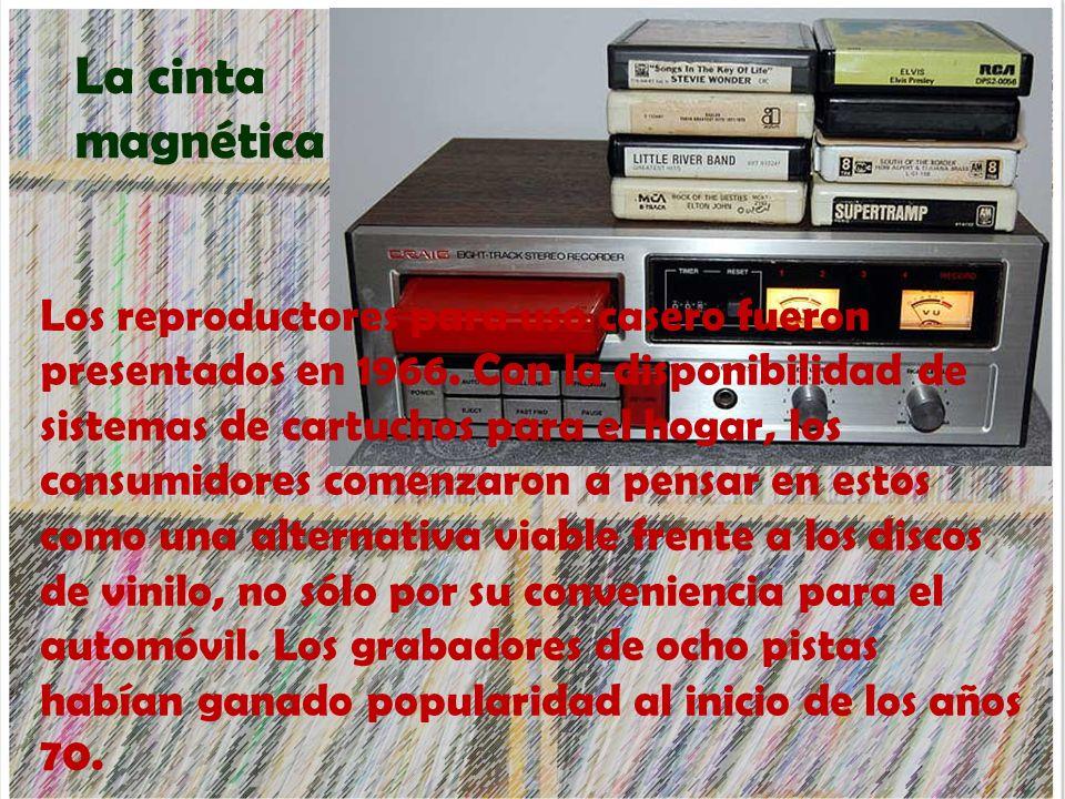 Los reproductores para uso casero fueron presentados en 1966. Con la disponibilidad de sistemas de cartuchos para el hogar, los consumidores comenzaro