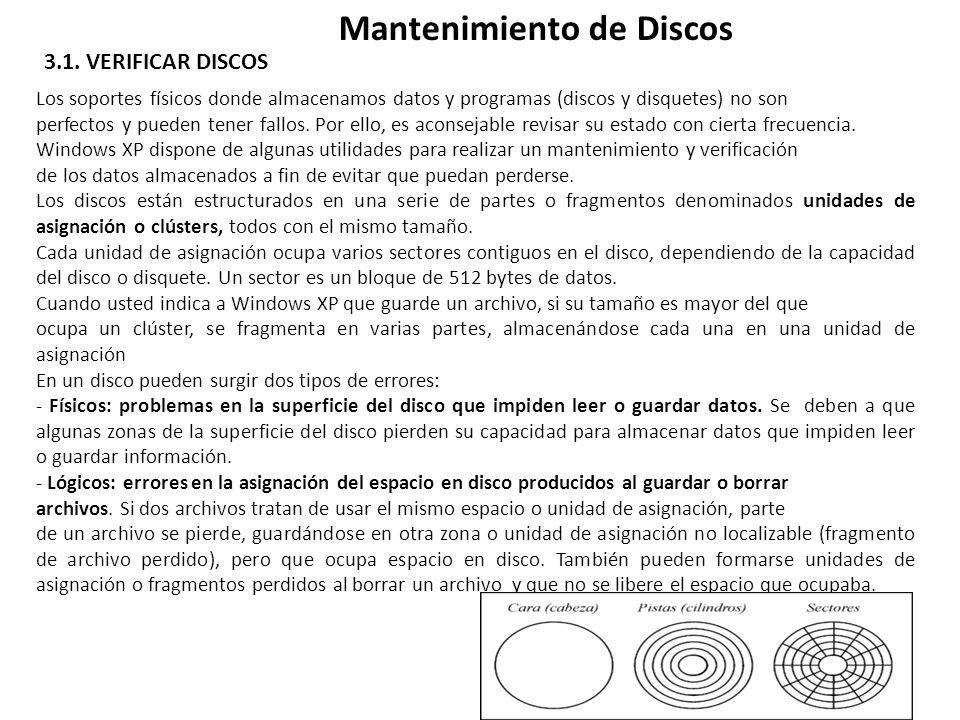 Mantenimiento de Discos 3.1.