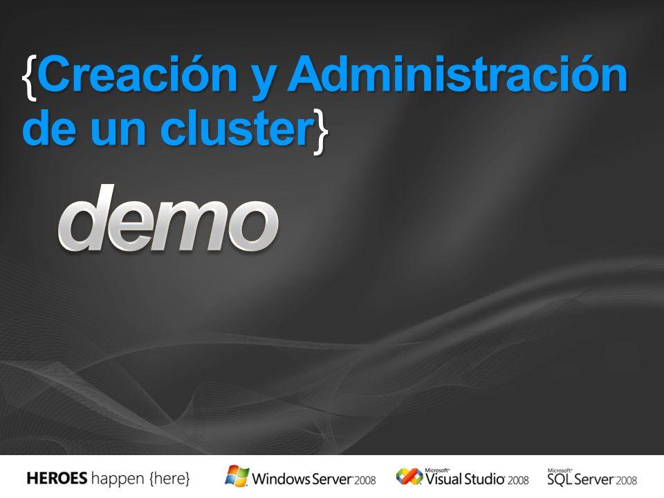 {Creación y Administración de un cluster}