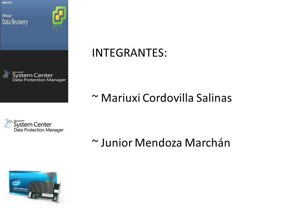 INTEGRANTES: ~ Mariuxi Cordovilla Salinas ~ Junior Mendoza Marchán