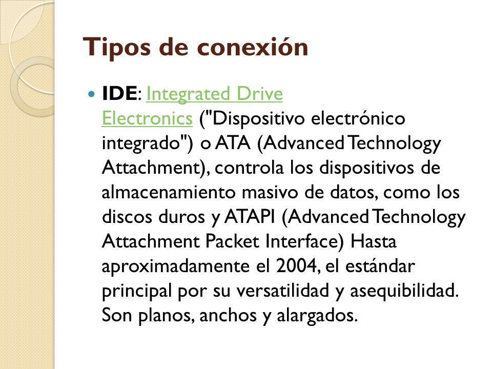 Tipos de conexión IDE: Integrated Drive Electronics (