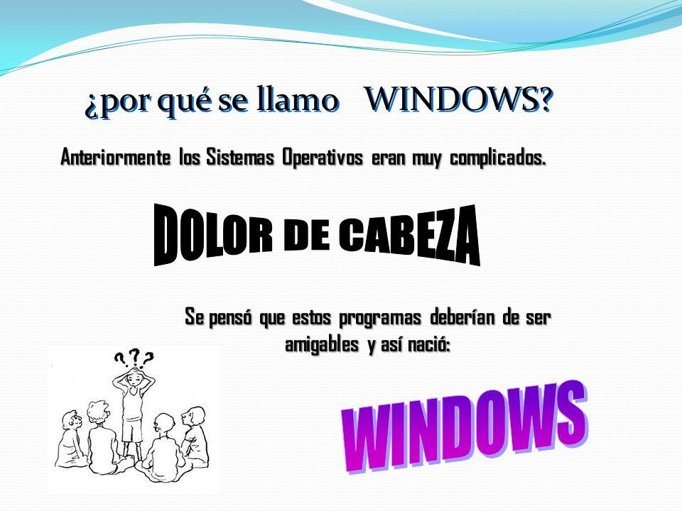 Windows es un Sistema Operativo que se encarga de administrar todos los recursos con que cuenta una computadora como: disco duro, unidades de diskette, mouse, impresoras, programas y demás dispositivos que se encuentren instalados.