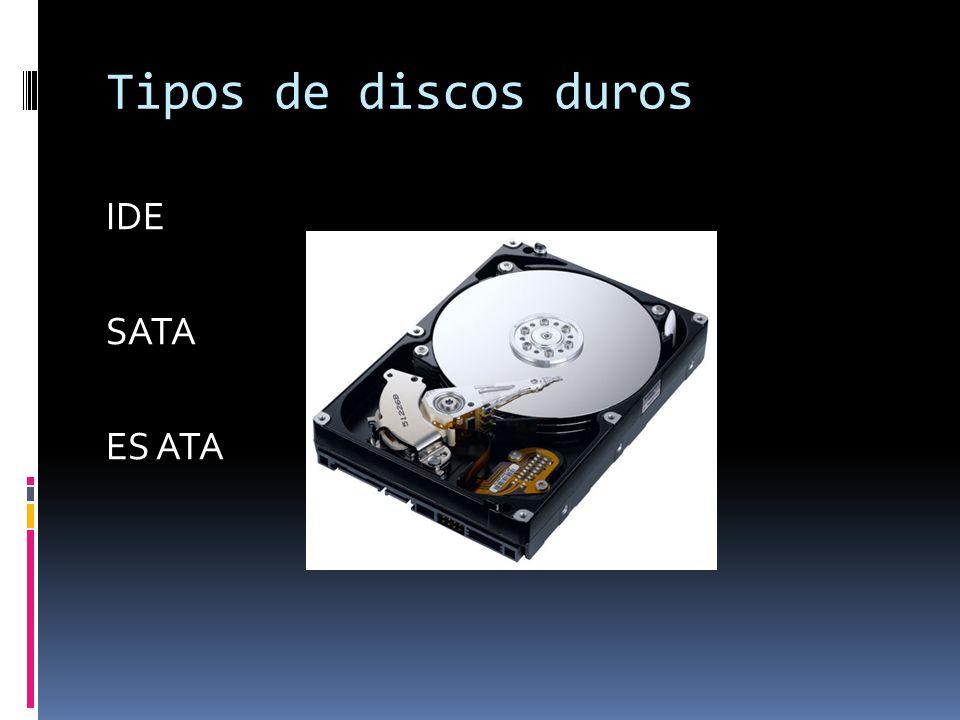 IDE El puerto IDE (Integrated device Electronics) o ATA (Advanced Technology Attachment) controla los dispositivos de almacenamiento masivo de datos, como los discos duros y ATAPI (Advanced Technology Attachment Packet Interface) y además añade dispositivos como las unidades CD-ROM.