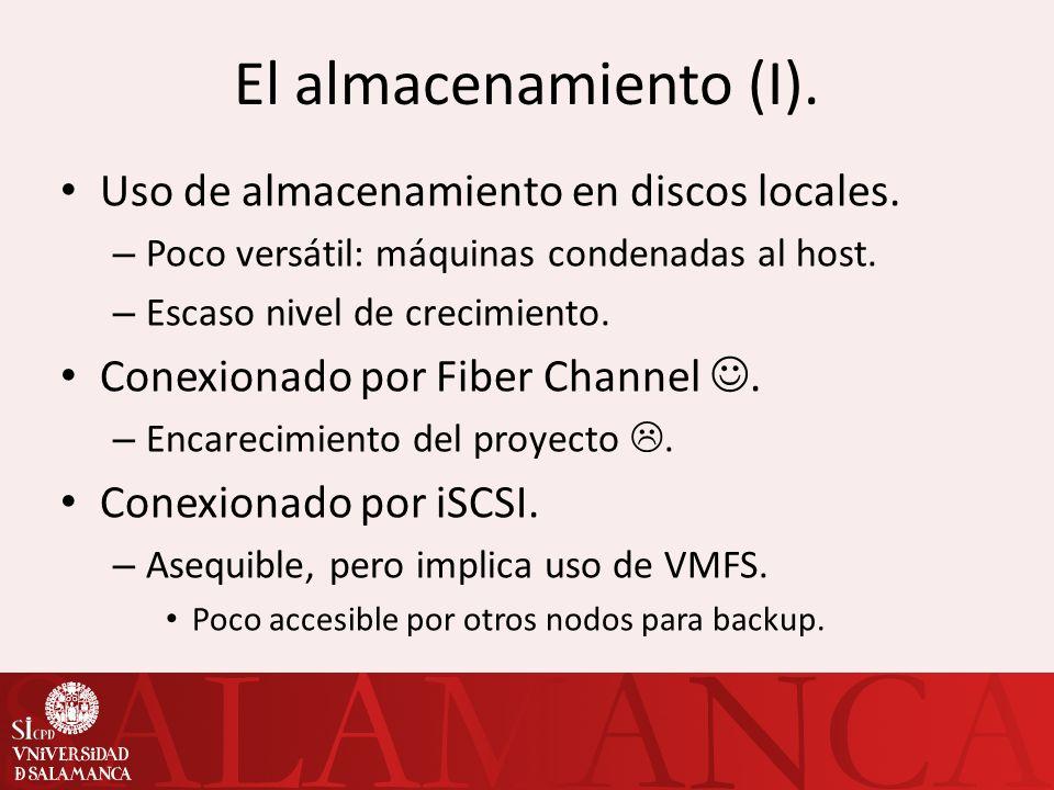 El almacenamiento (II).Uso de NFS. – Almacenamiento compartido.