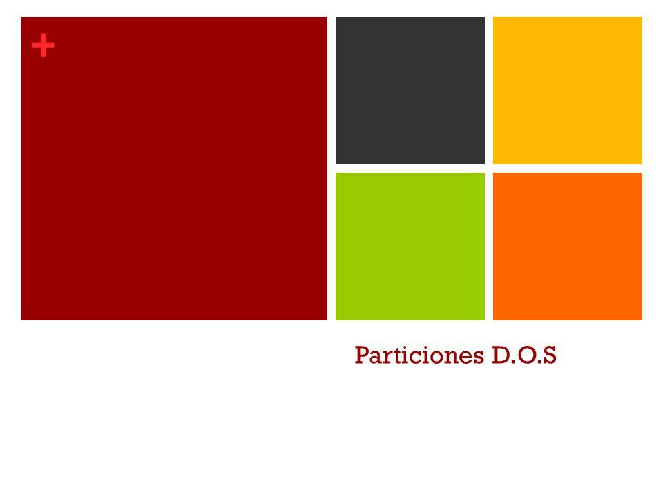 + Particiones D.O.S
