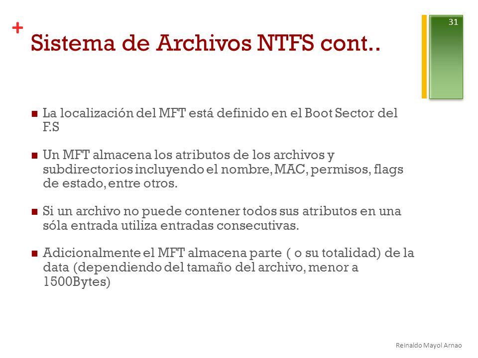 + Sistema de Archivos NTFS cont..