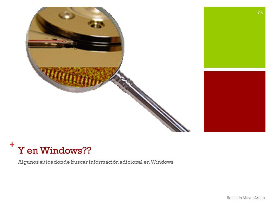 + Y en Windows?.