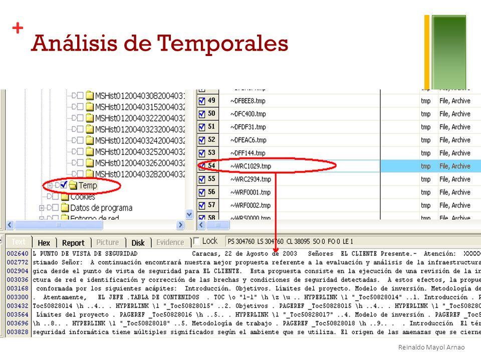 + Análisis de Temporales Reinaldo Mayol Arnao
