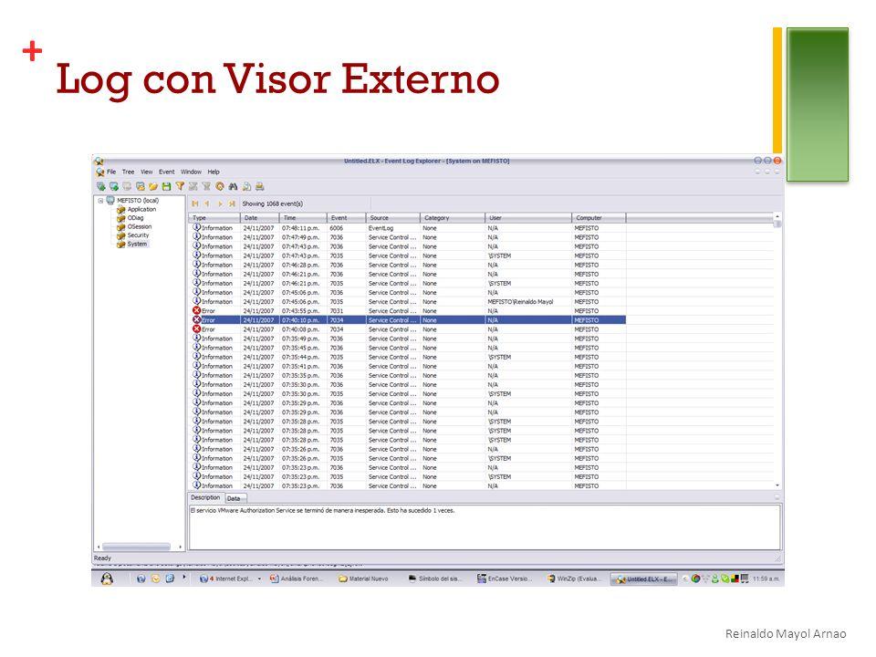 + Log con Visor Externo Reinaldo Mayol Arnao