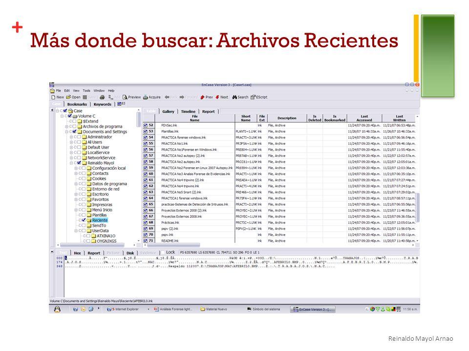 + Más donde buscar: Archivos Recientes Reinaldo Mayol Arnao