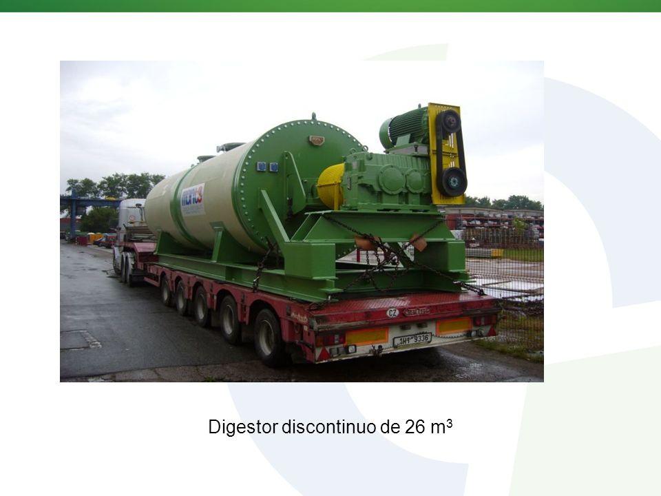 Digestor discontinuo de 26 m 3