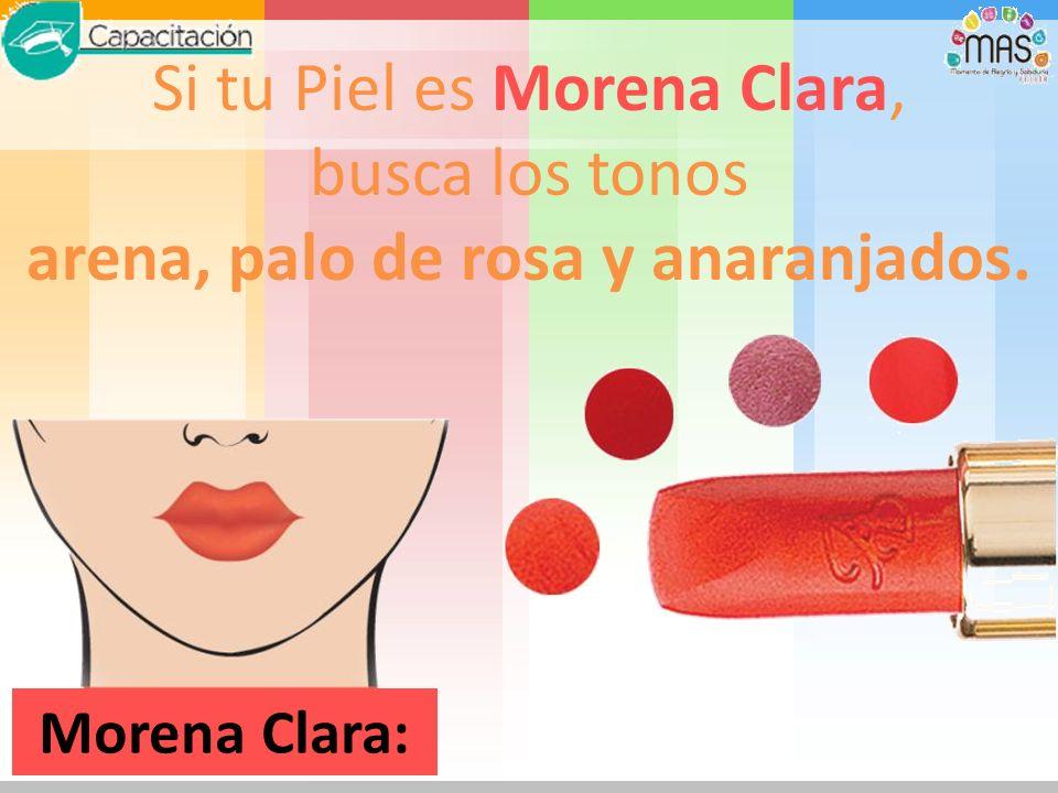 Clara: Si tu Piel es Clara, usa tonos rosa pastel y café claros.