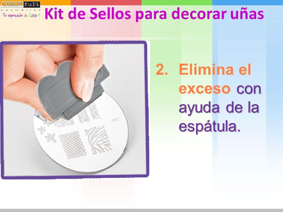 de esmalte en el disco sobre la figura deseada. 1.Aplica una capa gruesa de esmalte en el disco sobre la figura deseada. Kit de Sellos para decorar uñ