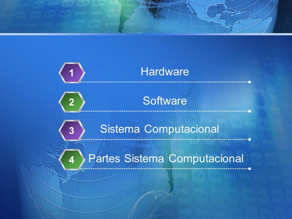 Hardware 1 Software 23 Partes Sistema Computacional 4 Sistema Computacional