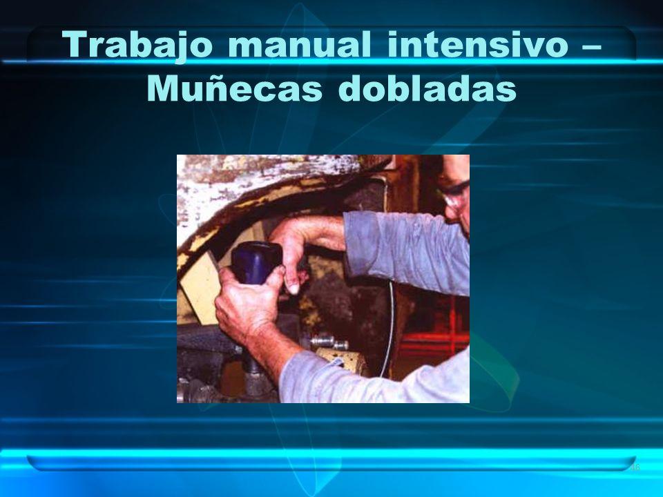 46 Trabajo manual intensivo – Muñecas dobladas