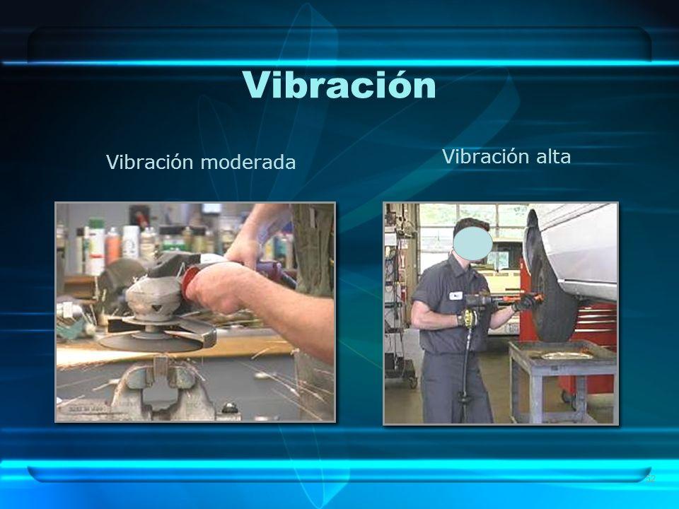 52 Vibración Vibración moderada Vibración alta