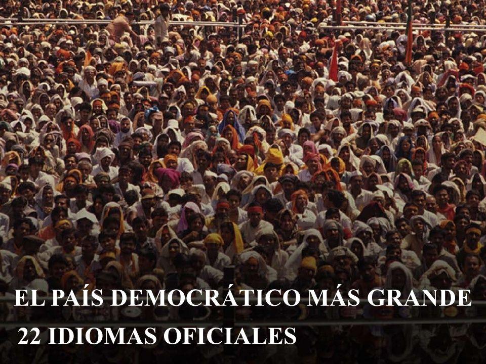 EL PAÍS DEMOCRÁTICO MÁS GRANDE 22 IDIOMAS OFICIALES