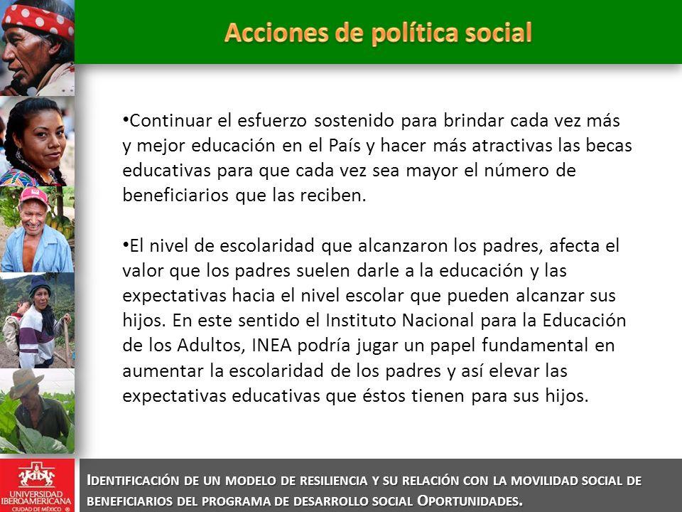 Continuar el esfuerzo sostenido para brindar cada vez más y mejor educación en el País y hacer más atractivas las becas educativas para que cada vez s