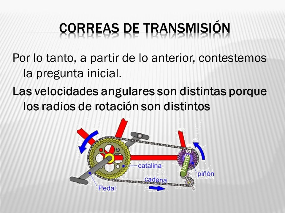 Por lo tanto, a partir de lo anterior, contestemos la pregunta inicial. Las velocidades angulares son distintas porque los radios de rotación son dist