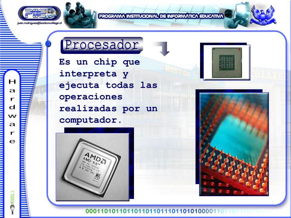 Es un chip que interpreta y ejecuta todas las operaciones realizadas por un computador.