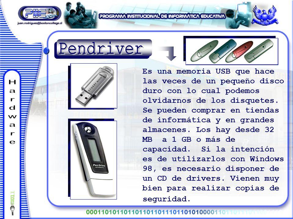 Es una memoria USB que hace las veces de un pequeño disco duro con lo cual podemos olvidarnos de los disquetes.