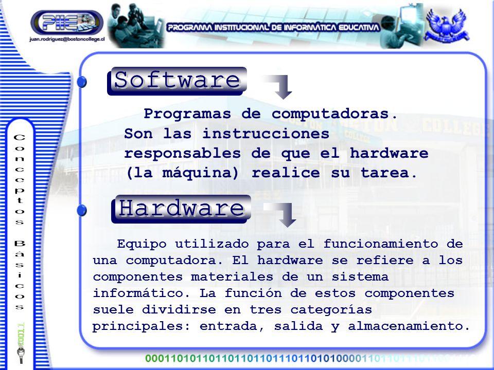 Programas de computadoras.