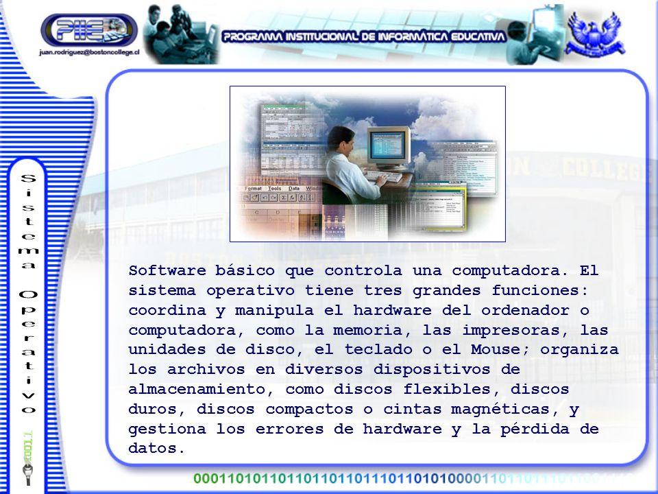 Software básico que controla una computadora.