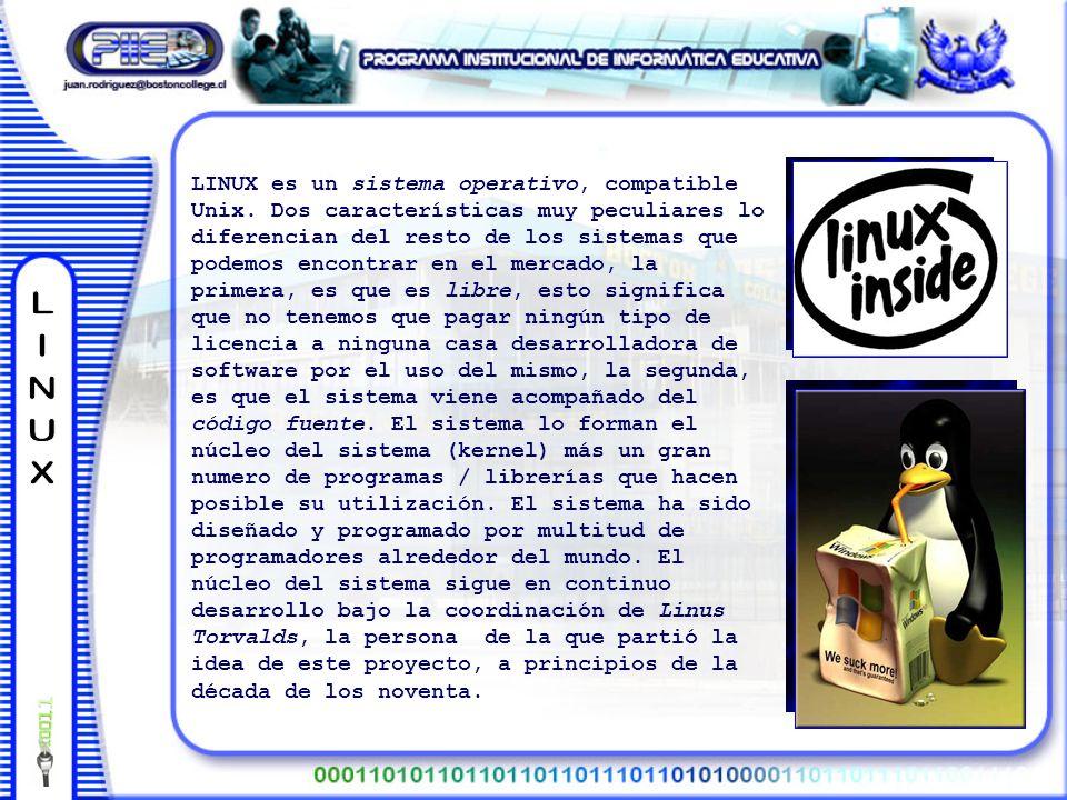 LINUX es un sistema operativo, compatible Unix.