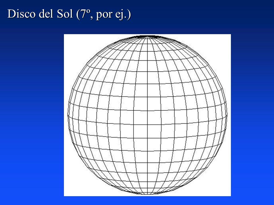 Para realizar este trabajo se confeccionaron unos discos adecuados a la inclinación que tiene el Sol en las fechas de las observaciones, y se colocaro