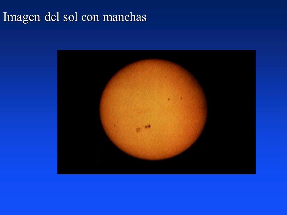 ¿Qué podemos hacer? El Sol presenta manchas en su superficie que giran con él y son fácilmente visibles por proyección con un pequeño telescopio (¡NO