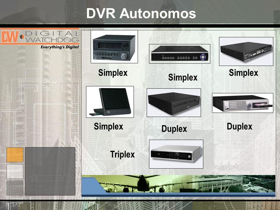 DVR Autonomos Simplex Duplex Simplex Triplex Duplex Simplex