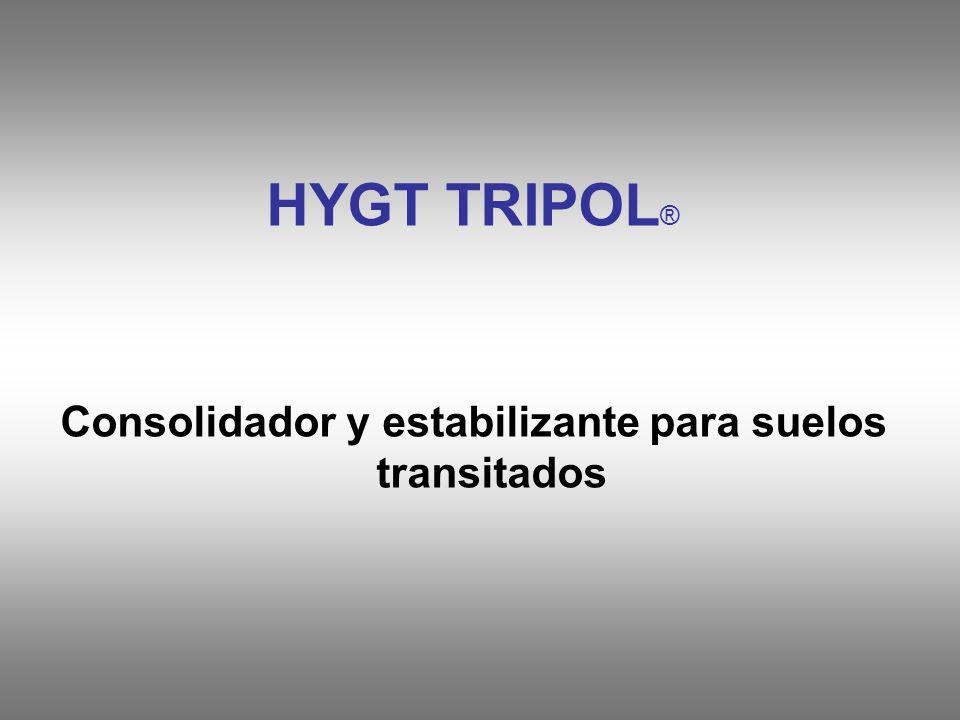 HYGT TRIPOL ® Consolidador y estabilizante para suelos transitados