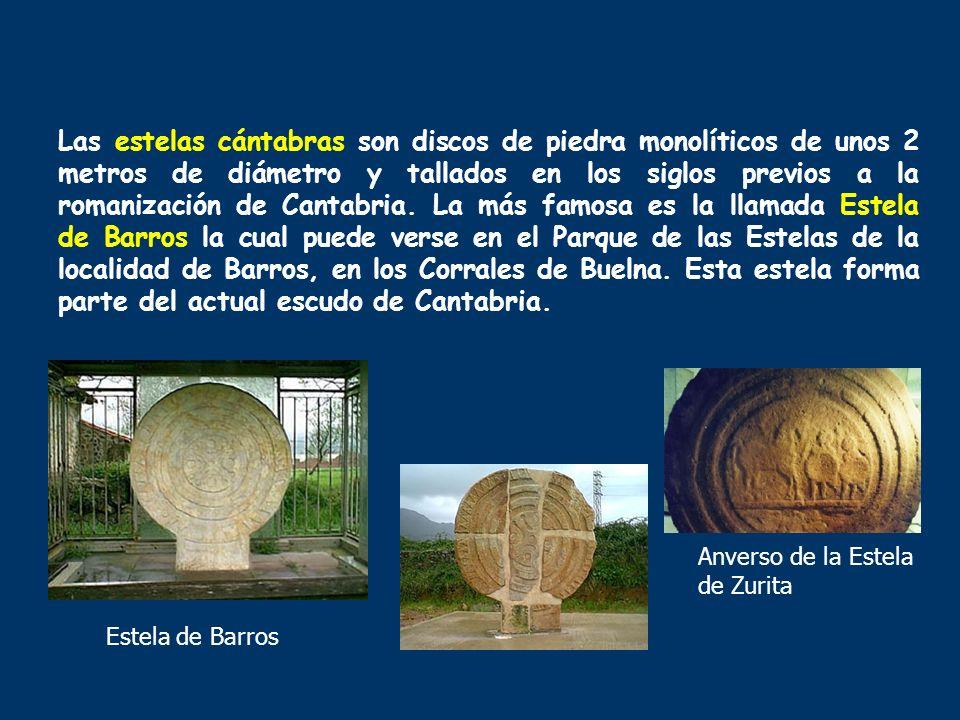 Las estelas cántabras son discos de piedra monolíticos de unos 2 metros de diámetro y tallados en los siglos previos a la romanización de Cantabria. L