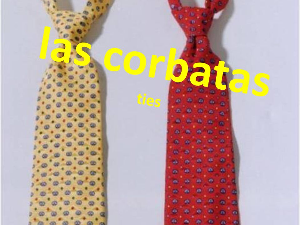 las corbatas ties