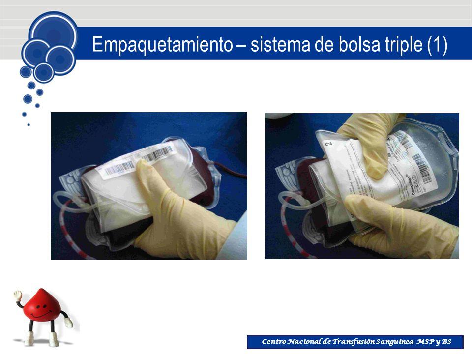 Centro Nacional de Transfusión Sanguínea- MSP y BS Empaquetamiento – sistema de bolsa triple (1)