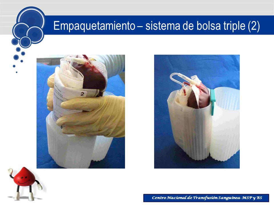 Centro Nacional de Transfusión Sanguínea- MSP y BS Empaquetamiento – sistema de bolsa triple (2)