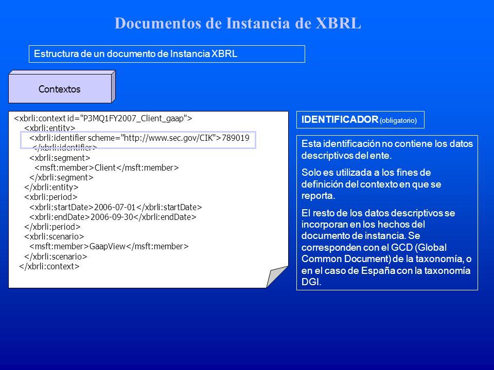 Documentos de Instancia de XBRL Estructura de un documento de Instancia XBRL Contextos 789019 Client 2006-07-01 2006-09-30 GaapView Esta identificación no contiene los datos descriptivos del ente.
